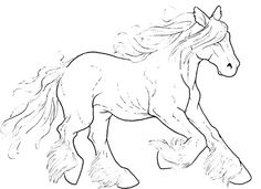 Free Galloping Horse Lineart By Bonbon3272deviantart On DeviantART Coloring PagesColoring