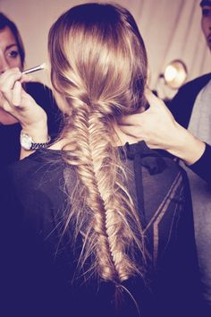 A fish tail braid never goes out of style.