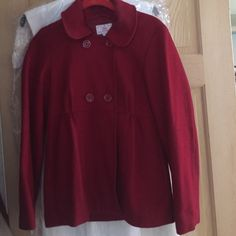 Red Pea Coat Awesome condition and a definite crowd pleaser. I got so many compliments on this jacket! It is a CHILD XXL GAP Jackets & Coats Pea Coats