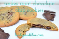 Andes Mint Chocolate Chip Cookies  omgosh!!! i would never make these because i would eat every one of them!!!!