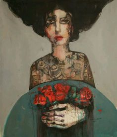#WOMENSART @womensart1  Aula Al Ayoubi, contemporary Syrian artist displaced since the war, featured with other women artists in #FemaleLust exhibition #womensart