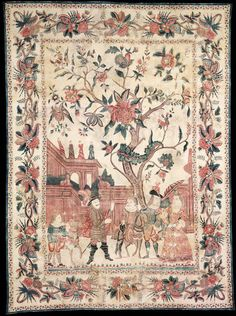Palampore. Coromandel Coast, India. 1740. Painted and dyed cotton chintz. © Victoria and Albert Museum, London