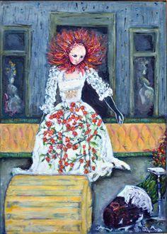 "Saatchi Art Artist Lorry Bentham; Painting, ""Celestial Flower"" #art"