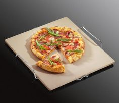 Kuchenprofi Pizza Stone in Cordierite with Rack 35cm by 38cm -- More info could be found at the image url.