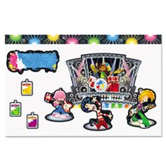 Rock out your decorations with this Rock Star Bulletin Board Set. With 47 pieces, you can make others feel like a VIP with their names displayed on each badge, making them a part of your decor` Star Themed Classroom, Stars Classroom, Classroom Walls, Classroom Displays, Classroom Themes, Parent Teacher Store, Star Bulletin Boards, Classroom Borders, Rock Star Theme