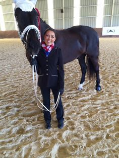 O'Shaughnessey's Sponsored Vaulting Coach, Saacha from Above and Beyond Vaulters, looks beautiful in her black O.S. Kileyann Show Coat! ♡   Get Saacha's Refined Look Here at OSapparel.com