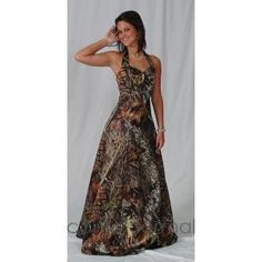 Camo dress with straps and rhineston S pin in middle