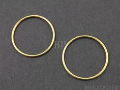 24K Gold Vermeil over Sterling Silver Small Round by Beadspoint, $4.99