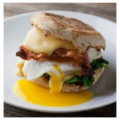 The Best Breakfast Sandwich! ❤ liked on Polyvore featuring home and kitchen & dining