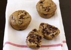 Recipe Makeover: Healthier Banana Espresso Chocolate Chip Muffins from handletheheat.com
