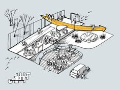Clock, Egmont Gymnasium / CEBRA - You are in the right place about Exercise Plan belly Here we offer you the most beautiful pictures about the wedding Exercise Plan y Architecture Presentation Board, Architecture Concept Drawings, Landscape Architecture Design, Architecture Graphics, Urban Architecture, Parque Linear, Urban Design Diagram, Public Space Design, Playground Design