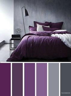 Grey and purple colors/ediblefleurs/debra ponte dusty-smokey deep purple Bedroom ideas Grey and purple color inspiration,Grey and purple color schemes