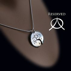 silver tree cut-out pendant
