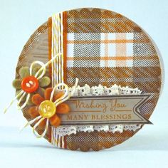 Very pretty autumn/Thanksgiving card. #crafts #cards #scrapbooking