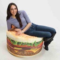 burger bean bag
