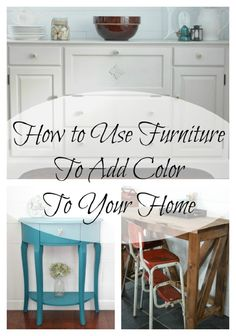 How to Use Furniture to Add Color to Your Space | I am a Homemaker