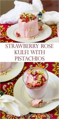 Strawberry Rose Kulfi with Pistachios for #ProgressiveEats *and* #IceCreamTuesday! This is my take on a classic Indian dessert that also happened to be new to me. Made with a super-concentrated sweetened condensed milk base, kulfi is rich, smooth, slow-to-melt and so creamy. And without the need to churn, it's a perfect summertime dessert! (scheduled via http://www.tailwindapp.com?utm_source=pinterest&utm_medium=twpin&utm_content=post4197835&utm_campaign=scheduler_attribution)