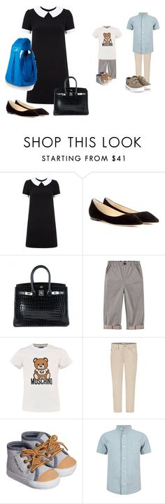 """family #2"" by endonggg on Polyvore featuring Yves Saint Laurent, Jimmy Choo, Hermès and Moschino"