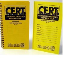 SSCRT573-571 CERT Combo Pack Handbook and Forms Books, from Sunset Survival and First Aid, C.E.R.T. responder kits, Emergency…