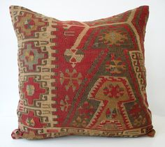 Beautiful Turkish Kilim Pillow.  Want this.