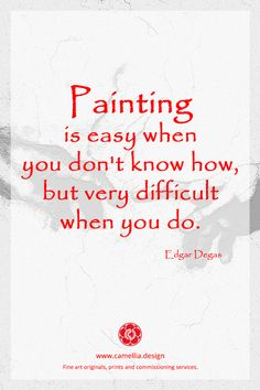 Inspiration from the artist Edgar Degas . Art Qoutes, Art Sayings, Meaningful Quotes, Quotes Inspirational, Degas Paintings, Artist Quotes, Creativity Quotes, Edgar Degas, Reading Quotes