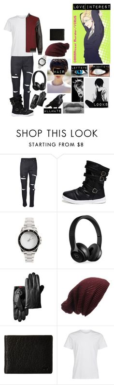 """""""DRAMatical murder oc 2"""" by gglloyd ❤ liked on Polyvore featuring Beats by Dr. Dre, Forever 21, Will Leather Goods, True Religion, men's fashion and menswear"""