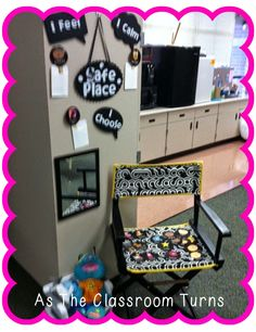 This is a cute Safe Place for upper grades. A structure within Conscious Discipline...