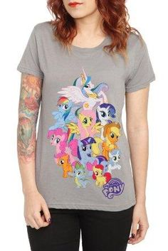 I found 'Hot Topic, My Little Pony Group T-Shirt' on Wish, check it out!