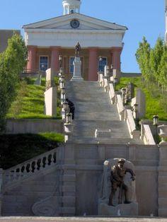 Monument Terrace in Lynchburg, VA. Climb all of them.