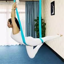 Elastic Aerial Yoga Hammock Swing Yoga Hammock Anti-gravity Yoga Practicing Exercise Strap Belts For Training Fitness & Body Building