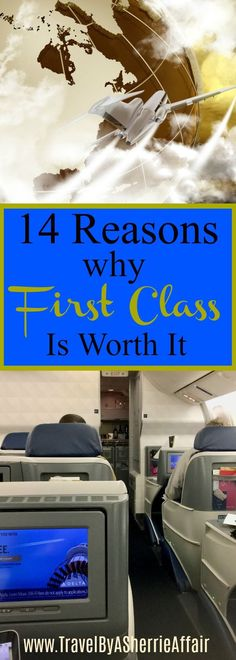 Flying first class can be worth it when you write down the pro's and con's.  Here are 14 reasons why purchasing a first class ticket can be worth it for your holiday.   #firstclass #plane #travel #firstclassticket #planetravel #holidaytravel #vacationtravel #vacation