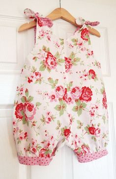 The & Bubble Romper Suit - Cath Kidston Vintage Rose White - Baby . - Baby Clothes Girl , The & Bubble Romper Suit - Cath Kidston Vintage Rose White - Baby . The & Bubble Romper Suit - Cath Kidston Vintage Rose. Baby Outfits, Little Girl Dresses, Toddler Outfits, Kids Outfits, Mode Shabby Chic, Shabby Chic Chairs, Baby Clothes Patterns, Clothing Patterns, Baby Patterns