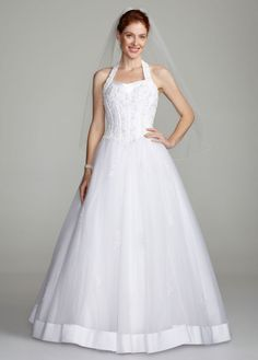 Halter Sweetheart Tulle Ball Gown - David's Bridal - mobile