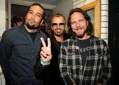 Ben Harper, Ringo Starr, and Eddie Vedder
