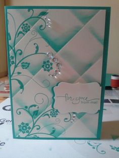 Stampin up ~ Love the rhinestone accents! :)