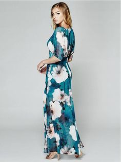 Falling Floral Maxi Dress   GUESS by Marciano