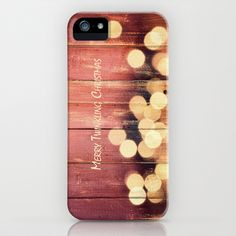 Merry Twinkling Christmas iPhone Case by Yasmina Baggili - $35.00