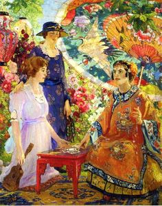Colin Campbell Cooper (American painter, 1856-1937) Fortune Teller 1921