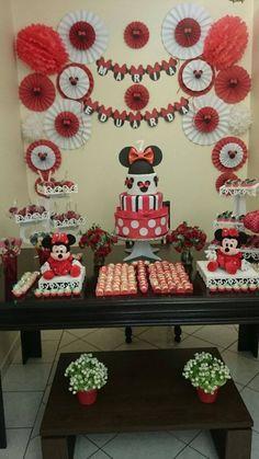 Decoração Minnie Vermelha!!!