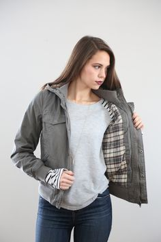 The Odyssey Bomber in Grey