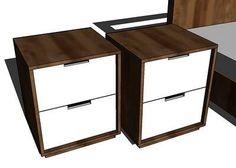 DIY Furniture : DIY Modern Nightstands Plans