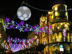 Christmas Traditions: Avenida de la Constitucion–one of the main streets in the city centre in Spain