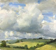 Oliver Akers Douglas- Field Barn, oil on canvas