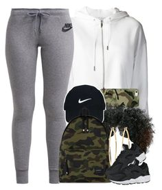 """Camo x White"" by livelifefreelyy ❤ liked on Polyvore featuring NIKE, Casetify, Nike Golf, A BATHING APE and Brooks Brothers"