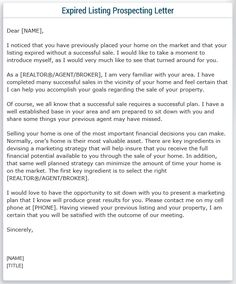 expired listing letter template real estate marketing and ideas