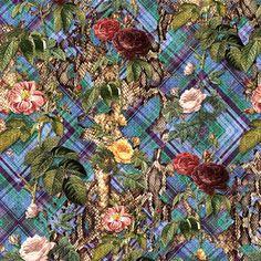 floral + animal prints + xadrez