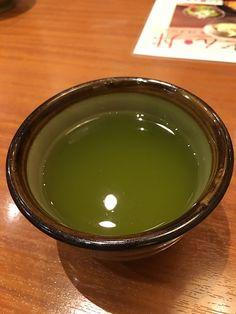Very tasty green tea served before lunch. Green Tea Drinks, Drinking Tea, Tasty, Lunch, Tableware, Dinnerware, Eat Lunch, Tablewares, Dishes