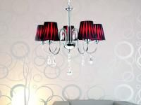 LAMPA PODKREŚLAJĄCA EKSTRAWAGANCKI CHARAKTER WNĘTRZA: Lampę z kolekcji Silvia wyróżnia się odważną, bardzo dekoracyjną stylistyką. Lampa ta podkreśli ekstrawagancki charakter wnętrza. Jej delikatna i zmysłowa forma połączona z ostrym kontrastem czerwieni i czerni wprowadza do aranżowanego pomieszczenia zmysłowy i magiczny nastrój.
