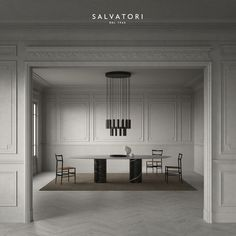 Instagram 上的 Salvatori:「 We believe that design should be versatile, so we try to strike a balance between modern and classic, such as in this dining room with… 」 Arch Interior, Interior Design, Pendant Chandelier, New South, Get Up, Dining Area, Dining Room, Entryway, Kitchen Cabinets