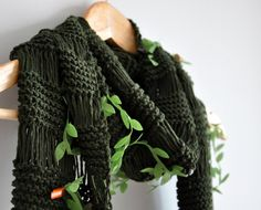 Olive Green Woodland Scarf Eco Friendly Cowl dreamt by zuzusworld